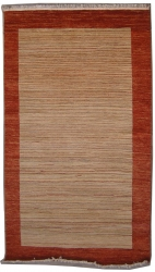 "6'5""X9'10"" Rug Gabbeh Design made with vegetable dyes"